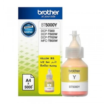 Brother BT-5000Y Original Yellow Refill Ink Tank Bottle - 5,000 pages Compatible Model HL-T4000DW, DCP-T300, T310, T500W, T510W, T700W, T710W, T810W, MFC-T800W , T910D, T4500DW
