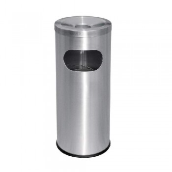 Stainless Steel Litter Bin C/W Ashtray Top - RAB-002/A (Item No: G01-35)
