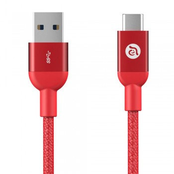 Adam Elements Casa M100 Type-C to Type-A Cable - Red