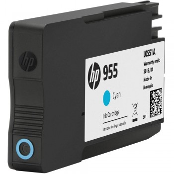 HP 955 Cyan Original Ink Cartridge (L0S51AA)