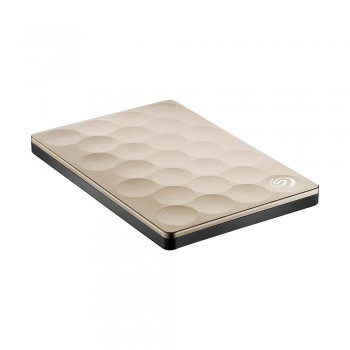 Seagate STEH1000301 Backup Plus 1TB Ultra Slim Portable Drive (Gold)