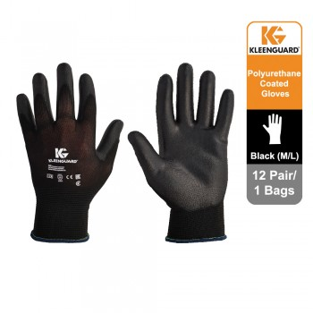 KleenGuard™ G40 Polyurethane Coated Hand Specific Gloves - Black, 1x12 pairs (24 gloves) 13839 (L)