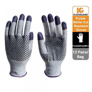 KleenGuard™ G60 Endurapro™ Dual Grip™ Purple Nitrile Gloves Grey & Purple, 1x12 (24 gloves) - 97432 (L)