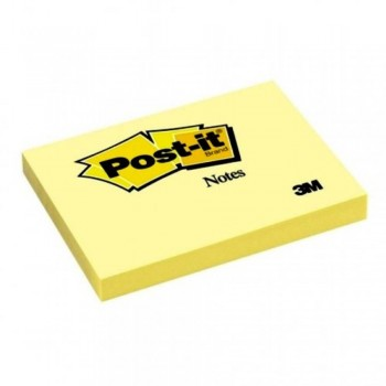 3M 657 Post-It 3 inch x 4 inch Yellow 100 Sheets