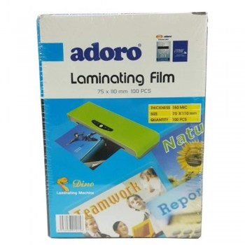 Adoro Laminating Film Pouch ID Size - 75mm x 110mm, 100pcs, 150mic