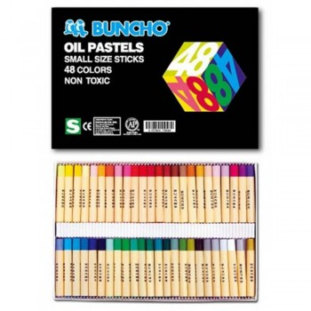 BUNCHO Oil Pastels Small Size Sticks - 48 colors