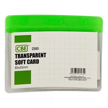 CBE 2585 Transparent Soft Card Green