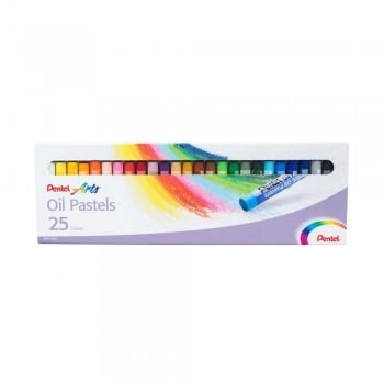 PENTEL ARTS OIL PASTELS 25 COLORS (PHN-25AS)