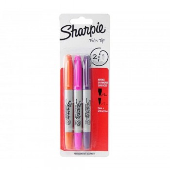 Sharpie Twin Tip - 3 colors OVP (Item No: A12-21 TTASST3S) A1R3B29