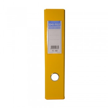 EMI PVC 75mm Lever Arch File A4 - Yellow