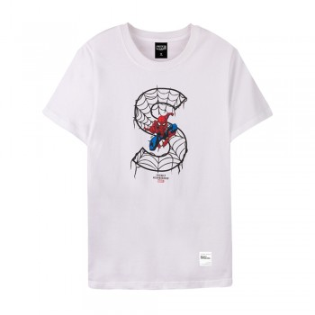 Spider-Man Series Spider-Man S Tee (White, Size L)