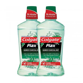 Colgate Plax Bamboo Charcoal Mint Mouthwash Value Pack 750ml x 2