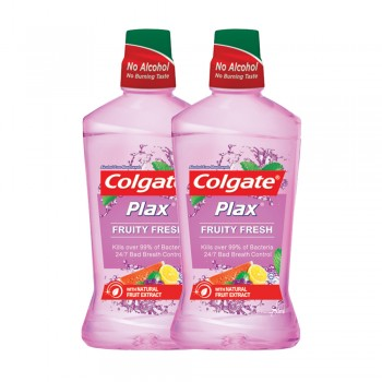 Colgate Plax Fruity Fresh Mouthwash Value Pack 750ml x 2