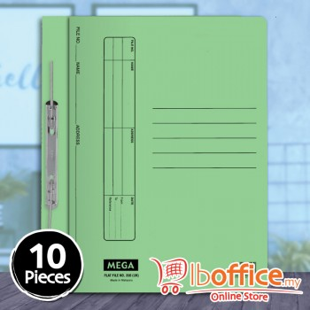 Manila Flat File - Mega 350UK - Green - 10pcs
