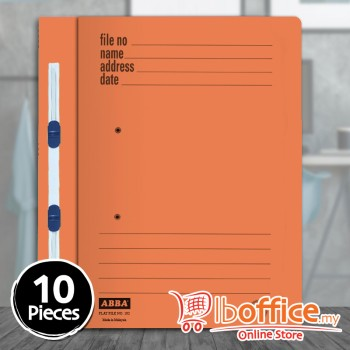 Manila Flat File - ABBA 102PM - Orange - 10pcs