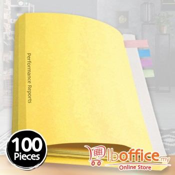 LB Manila Fold File - 310gsm - Yellow - 100pcs