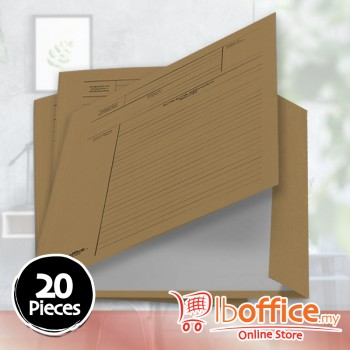 Brown Paper Minute File - LB-BP601 - 150gsm - 20pcs