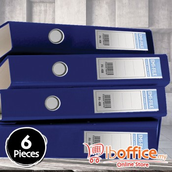 PVC Colour Arch File - EMI-850F - 2-Inch - Blue - 6pcs