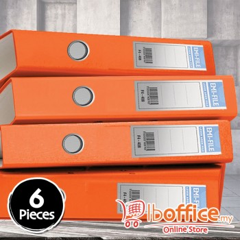 PVC Colour Arch File - EMI-850F - 2-Inch - Orange - 6pcs