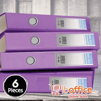 PVC Colour Arch File - EMI-850F - 2-Inch - Purple - 6pcs