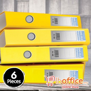 PVC Colour Arch File - EMI-850F - 2-Inch - Yellow - 6pcs