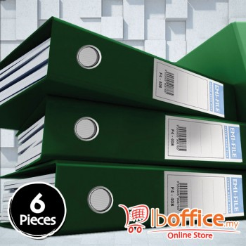 PVC Colour Arch File - EMI-875F - 3-Inch - Green - 6pcs