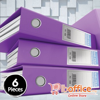 PVC Colour Arch File - EMI-875F - 3-Inch - Purple - 6pcs