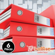 PVC Colour Arch File - EMI-875F - 3-Inch - Red - 6pcs