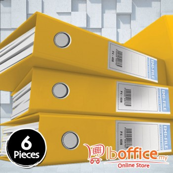PVC Colour Arch File - EMI-875F - 3-Inch - Yellow - 6pcs