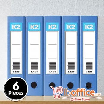 Glue On Ring File - K2-L125 - 25mm-2D - A4 - Fancy Blue - 6pcs