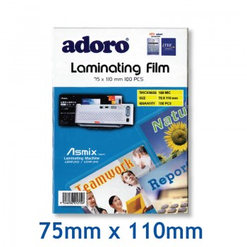 Adoro Laminating Film-75mm x 110mm