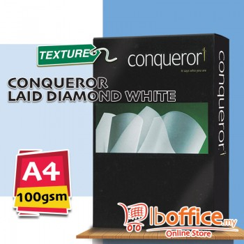 A4 Conqueror LAID Paper - Diamond White - 100gsm - 500sheets