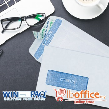 White Envelope - WinPaq 4496 - Window - Opaque - Peel&Seal 500pcs