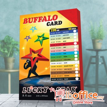 A4 Fancy Card - LuckyStar 230gsm - Red - 100sheets
