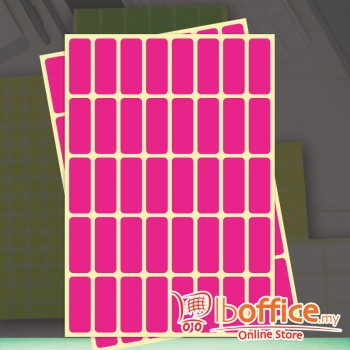Self Adhesive Label - 10sheets - 13mm x 38mm - Pink