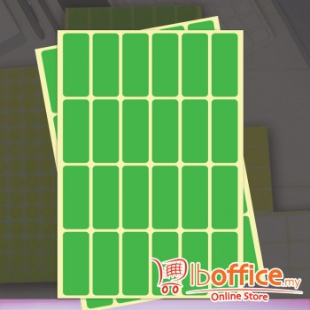 Self Adhesive Label - 10sheets - 19mm x 50mm - Green