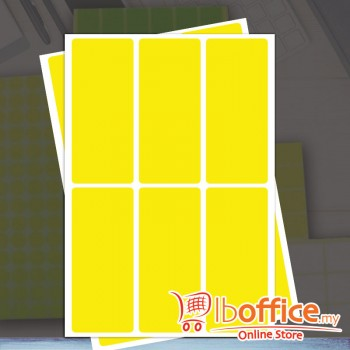 Self Adhesive Label - 10sheets - 40mm x 100mm - Yellow