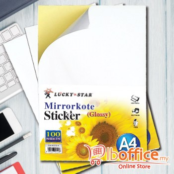 A4 Mirrorkote Glossy Sticker - 100sheets
