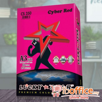 A3 Colour Paper - LuckyStar 80gsm - Cyber Red - 450sheets