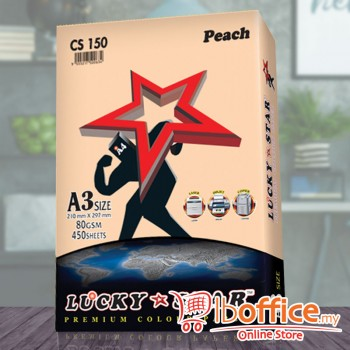 A3 Colour Paper - LuckyStar 80gsm - Peach - 450sheets