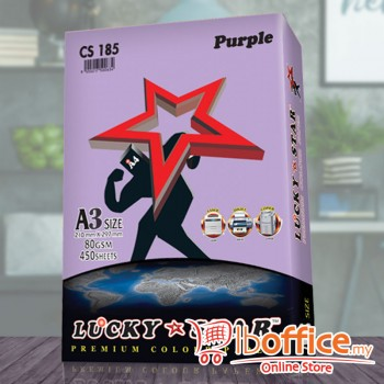 A3 Colour Paper - LuckyStar 80gsm - Purple - 450sheets