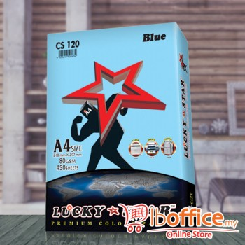 A4 Colour Paper - LuckyStar 80gsm - Blue - 450sheets