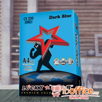 A4 Colour Paper - LuckyStar 80gsm - Dark Blue - 450sheets