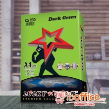 A4 Colour Paper - LuckyStar 80gsm - Dark Green - 450sheets