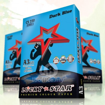 Lucky Star Dark Color Paper-A3 80gsm/CS220-DARK BLUE