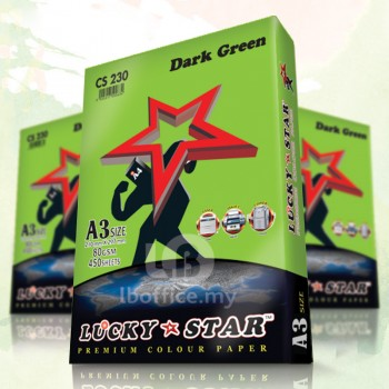 Lucky Star Dark Color Paper-A3 80gsm/CS230-DARK GREEN