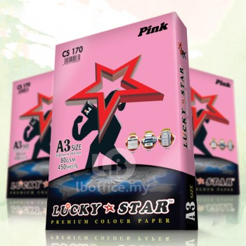 Lucky Star Light  Color Paper-A3 80gsm/CS170-PINK