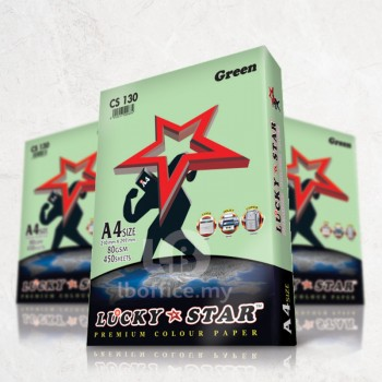Lucky Star Light Color Paper-A4 80gsm/CS130-GREEN
