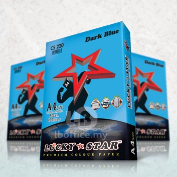 Lucky Star Dark Color Paper-A4 80gsm/CS220-DARK BLUE