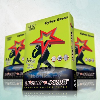 Lucky Star Fluorescent Color Paper-A4 80gsm/CS321-CYBER GREEN